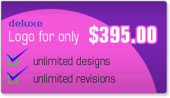 Deluxe Logo Packages - UNLIMITED initial logo designs to select from and UNLIMITED revisions of selected design - $395.00